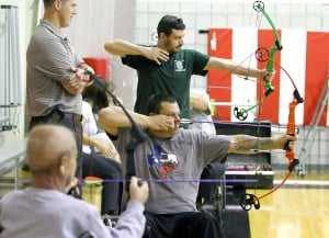 Veterans Practice Archery in Heights