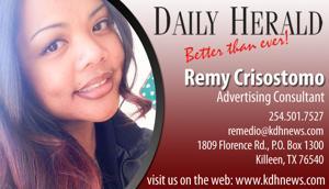Remy Crisostomo 254-501-7527 Killeen Texas