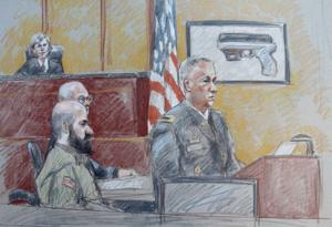 Fort Hood Hasan Trial - Sketches