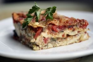 Holiday Meals: Roasted vegetable lasagna makes for a healthy holiday meal. - Photo by Patricia Beck | Detroit Free Press