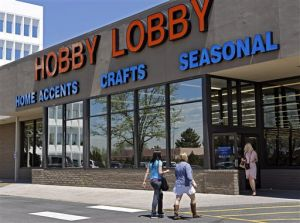 <p>Customers enter a Hobby Lobby store May 22 in Denver. The Supreme Court agreed to referee another dispute over President Barack Obama's health care law, whether businesses can use religious objections to escape a requirement to cover birth control for employees.</p>
