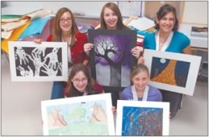 Six Union Grove students win gold at art contest