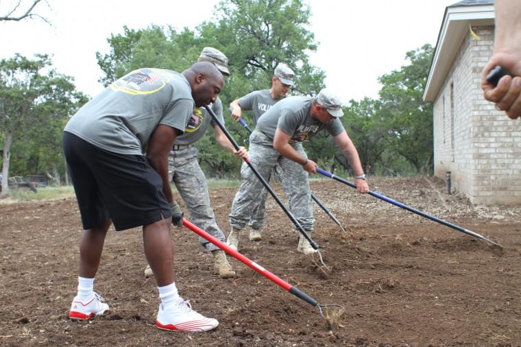 Rail Gunners help disabled veteran