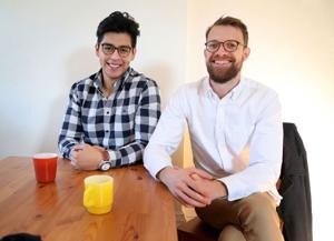 <p>Daniel Romo, MD, left, and Dan Gulick, a PhD in bio medical engineering, pose for a portrait on Jan. 8, 2017 in Minneapolis, Minn. Together they formed Aucta Technologies, a startup that is creating a novel method and medical device known as decima to non-invasively stimulate nerves in order to treat a range of diseases, including diabetes. They estimate their device, after appropriate medical testing, could be available to the public in about three years. (David Joles/Minneapolis Star Tribune/TNS)</p>