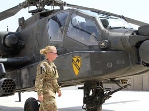 1st Air Cavalry Brigade maintainers prepare aircraft for Afghan mission
