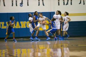 <p>Copperas Cove's Alex Wilson (22) and a Waco La Vega player battle for possession of the ball Tuesday in Copperas Cove.</p>