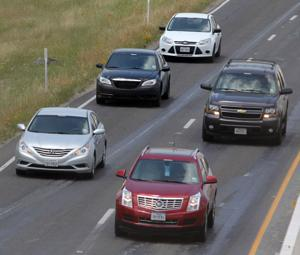 Traffic along US Highway 190