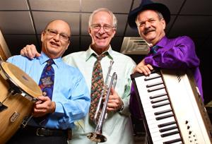 <p>From left, percussionist Ed Hernandez, trumpeter Steve Pettit and pianist Les Young make up Killeen's Dr. Gleam. The band plus vocalist Keely Allison will perform at Wildflower Country Club's New Year's Eve party in Temple.</p>