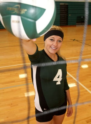 Ellison senior volleyball player Bailey Wade