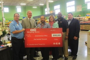 H-E-B makes $100k donation to Armed Services YMCA