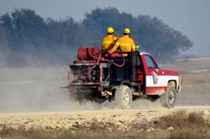Fort Hood Grass Fire