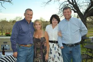 From left, Pete and Tina Alderman, Gayla Fossum, a 2014 Gala committee member, and Robert Ray of Salado.