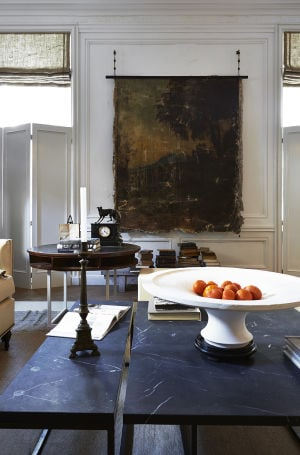 Darryl Carter: A vignette from designer Darryl Carter's salon at the 2014 Kips Bay Decorator Show House. His room reflects his mastery of pairing the modern with the antique and playing up divergent surfaces and textures. - Timothy Bell | Washington Post