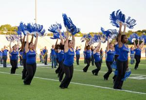 <p>The Copperas Cove High School Copperettes perform Tuesday, Sept. 9, 2014, during the Spirit Spectacular at Bulldawg Stadium in Copperas Cove.</p>