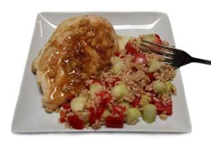 Honey-ginger chicken recipe on the table in minutes