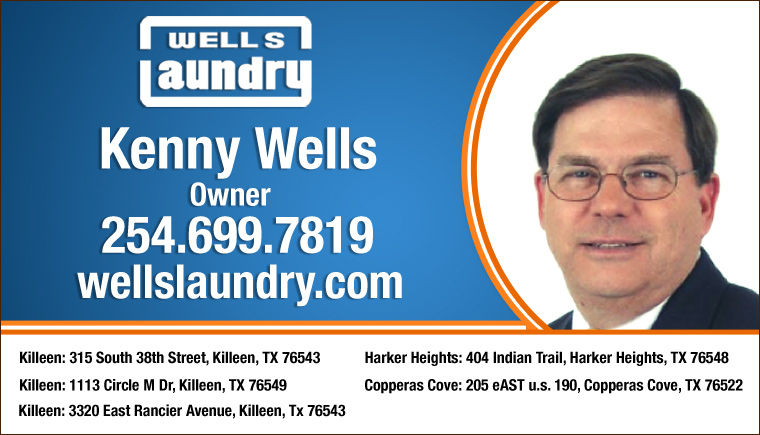 Kenny Wells Killeen TX 254 254-699-7819 Wells Laundry