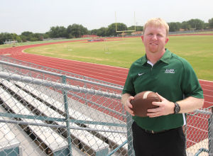 <p>Derek Levisay is the defensive coordinator for the Ellison Football team and looks to help the team through the upcoming season.</p>