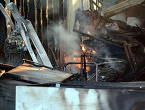 Heights mobile home fire