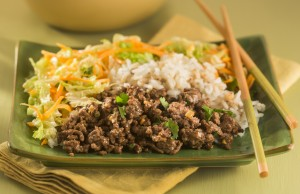 Asian-style ground beef