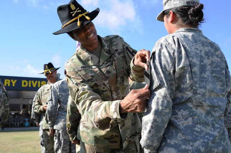 First Team welcomes local National Guard unit with patching ceremony