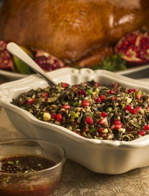 Pomegranate-turkey meal at Thanksgiving