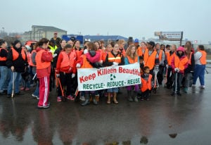 Killeen volunteers clean up