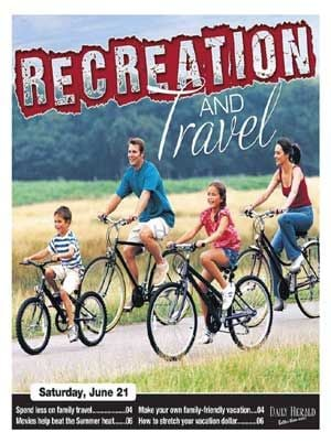 The 2014  Recreation and Travel Guide brought to you by the Killeen Daily Herald. Sections on spending less on family travel, making your own family-friendly vacation, movies that help beat the summer heat and how to stretch your vacation dollar.