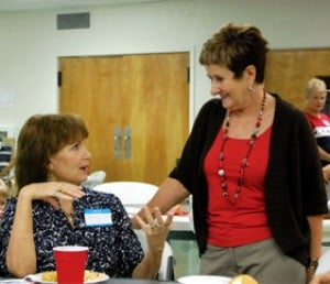 State representative congratulates newly retired teachers at luncheon
