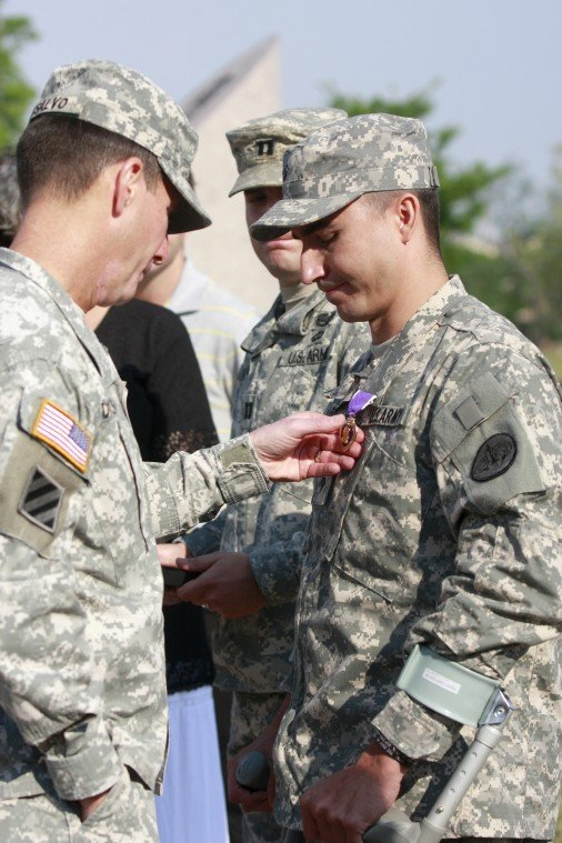 Year in Photos - Purple Heart Honor