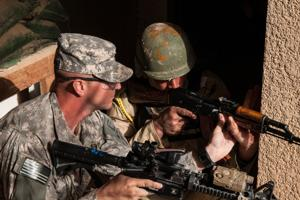 Training at Camp Taji, Iraq