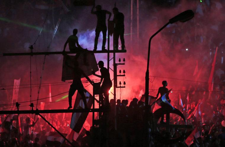 Morsi opponents celebrate
