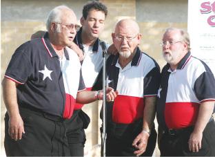 Barbershop groups deliver heartfelt harmonies