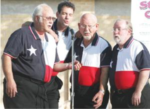 Barbershop groups deliver heartfelt harmonies