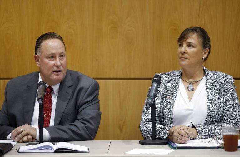 Cosper, Blankenship face off in debate