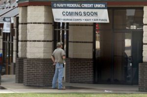 Credit Union: A sign about the future opening of a Navy Federal Credit Union at 3210 E. Central Texas Expressway in Killeen is seen Tuesday. - Jaime Villanueva