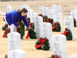 Wreaths honor the fallen