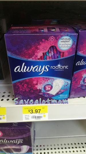 Always Feminine Products at Walmart! Save Up to 51%!!
