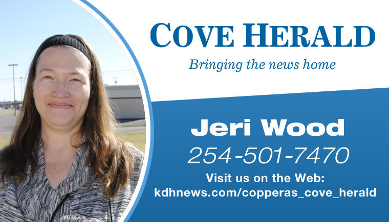 Jeri Wood Copperas Cove TX 254-501-7470 Coppers Cove Herald News