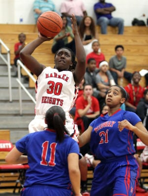 Waco Midway girls at Harker Heights