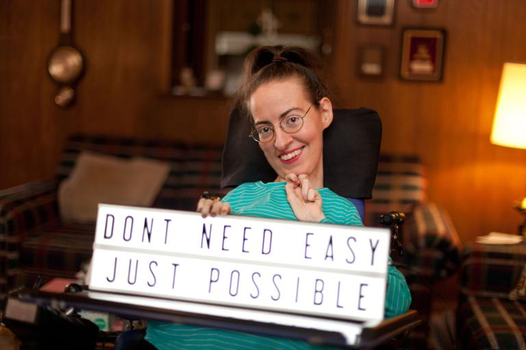 Undaunted by disability
