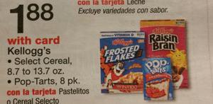 Kellogg's Cereals at Walgreens! Save up to 75%!! WOW!
