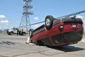 Car crash on Fort Hood Street