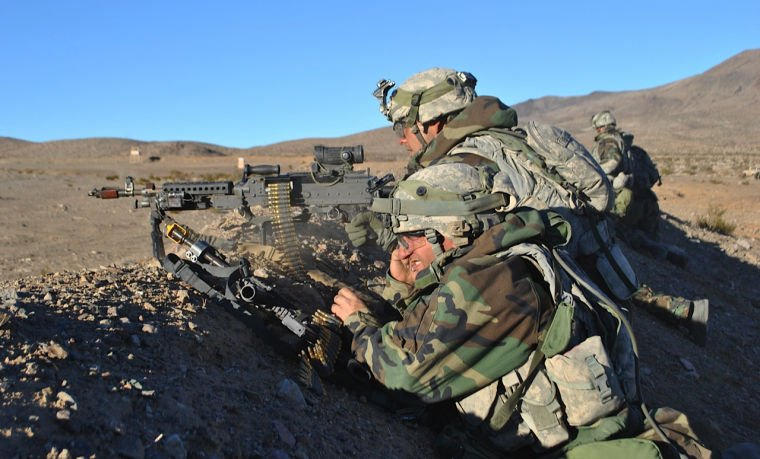 1st Cavalry troops at National Training Center