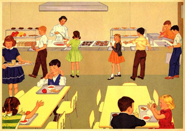 The dreaded school cafeteria