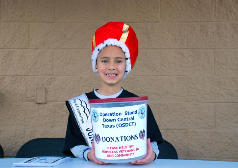 Cove youth raises funds and items for homeless veterans