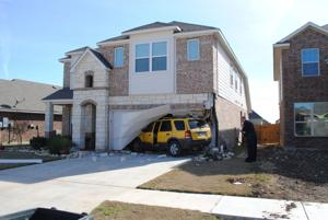 Vehicle into home