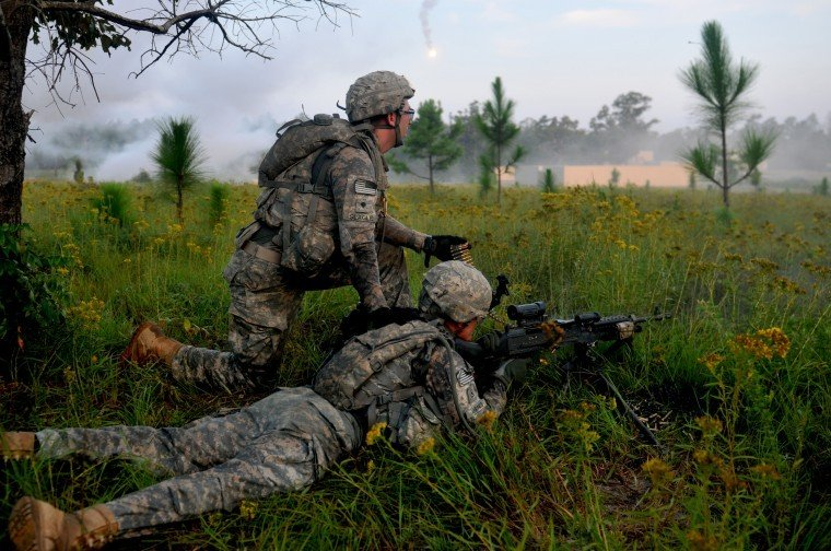 Soldiers train at Fort Polk