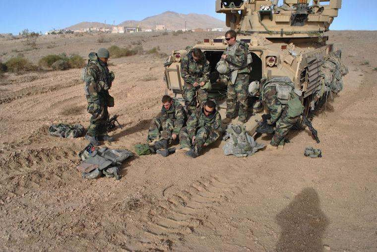 1st Cavalry troops train at National Training Center