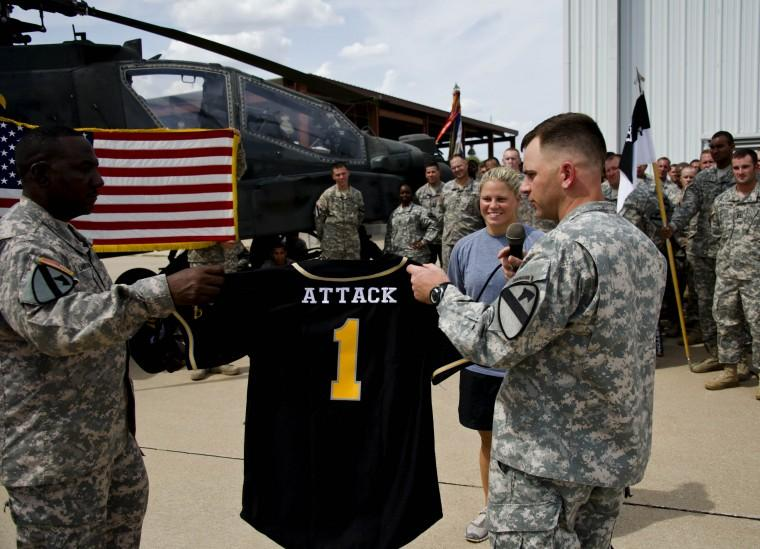 1st Air Cav soldier swings for All Army