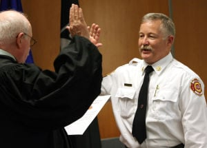 New Cove fire chief sworn in
